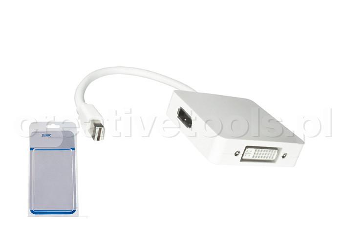 Dinic Adapter Mini-DisplayPort na HDMI, DVI, DPort