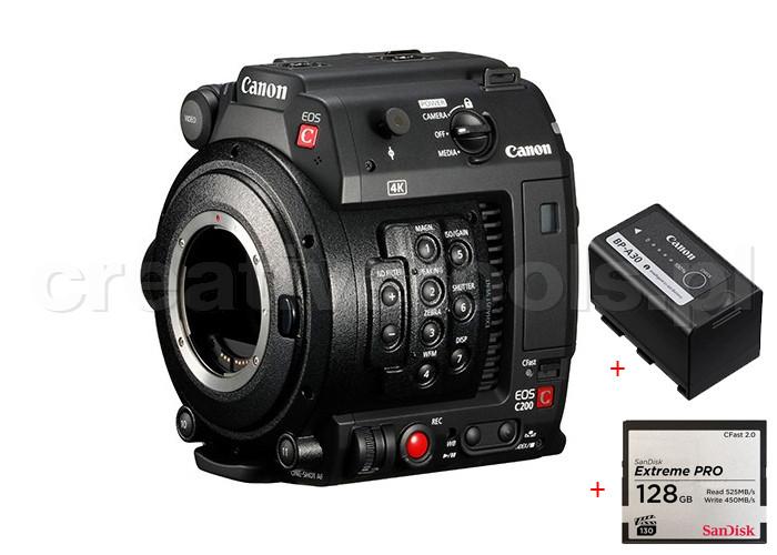 Canon EOS C200 + CFAST 128G + Canon BP-A30