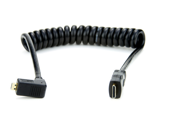 Atomos Micro HDMI (kąt)/Mini HDMI kabel spiralny 30cm