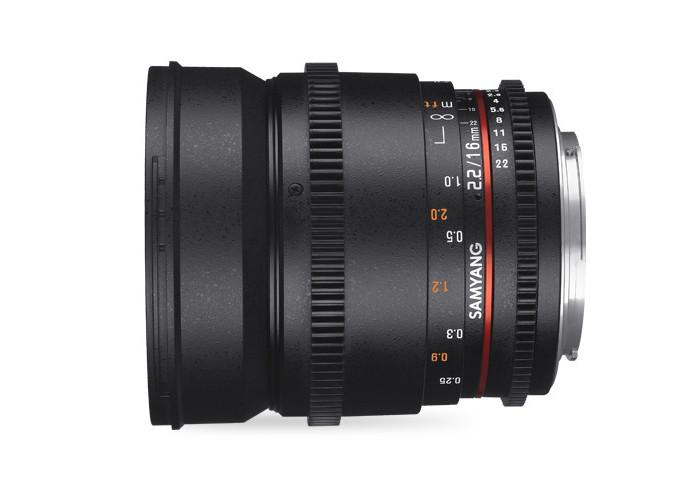 Samyang VDSLR II 16mm T2,2 Sony E