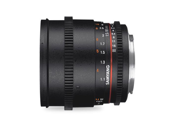 Samyang VDSLR II 85mm T1,5 Sony E