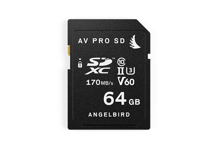 Angelbird SD Card AV PRO UHS-II 64GB V60 (AVP064SDMK2V60)