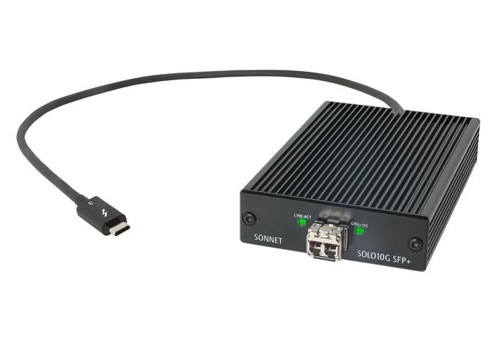 Sonnet Solo 10G Thunderbolt 3 to SFP+ 10 Gigabit Ethernet Adapter