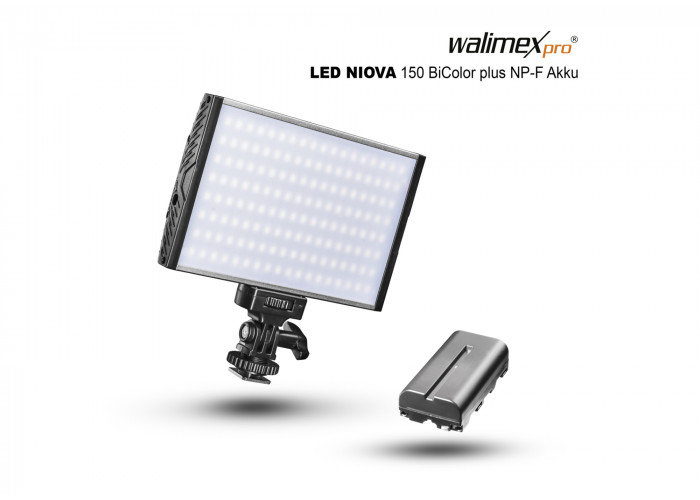 Walimex pro LED Niova 150 Bi Color + NP-F Akku