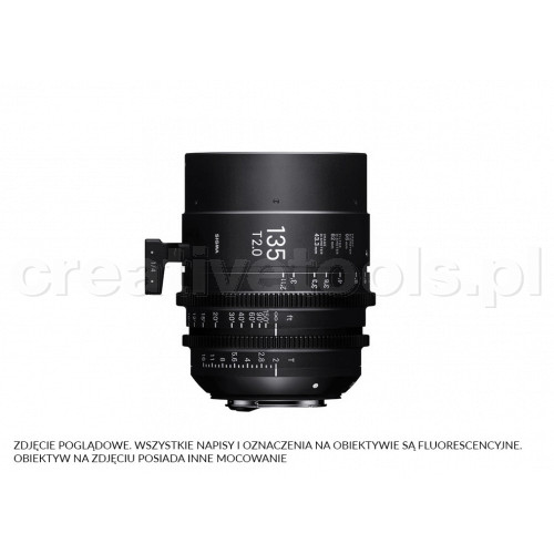 Sigma High Speed Prime Line 135mm T2 FF E-Mount (Fully Luminous)