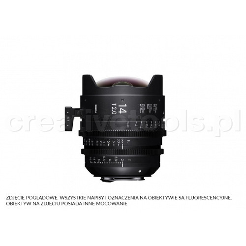 Sigma High Speed Prime Line 14mm T2 FF EF-Mount (Fully Luminous)
