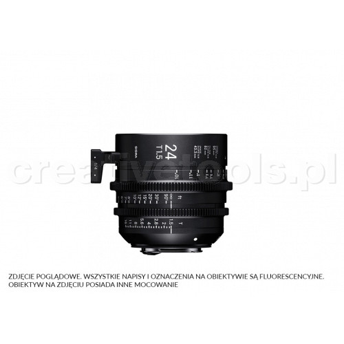 Sigma High Speed Prime Line 24mm T1.5 FF E-Mount (Fully Luminous)