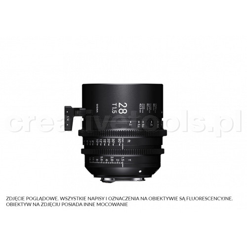 Sigma High Speed Prime Line 28mm T1.5 FF EF-Mount (Fully Luminous)