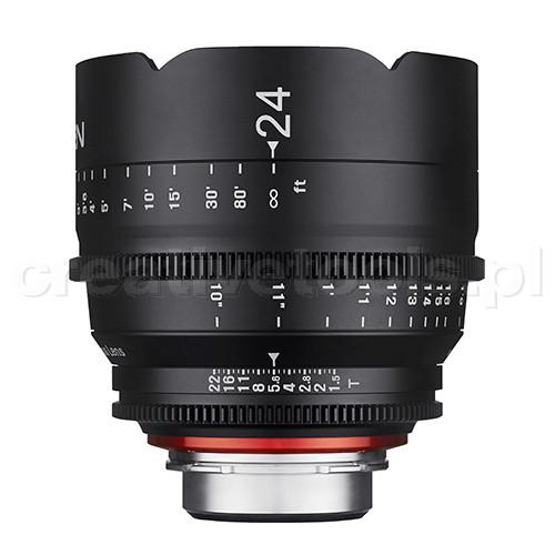 Samyang Xeen 24mm, 50mm, 85mm T1,5  PL zestaw