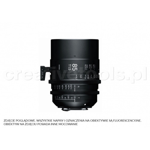 Sigma High Speed Prime Line 85mm T1.5 FF E-Mount (Fully Luminous)