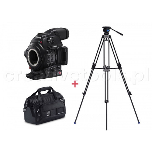 Canon Cinema EOS C100 Mark II + Benro KH-25N + Sachtler Dr. Bag - 1 (SC001)