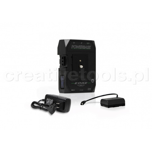 CoreSWX PowerBase EDGE Small Form Cine V-Mount Battery, 14.8v with Panasonic Battery Cable