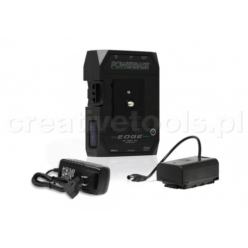 CoreSWX PowerBase EDGE Small Form Cine V-Mount Battery, 14.8v with Panasonic VBR Battery Cable