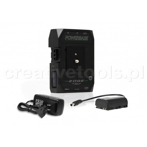 CoreSWX PowerBase EDGE Small Form Cine V-Mount Battery, 14.8v with Canon LPE6 Battery Cable