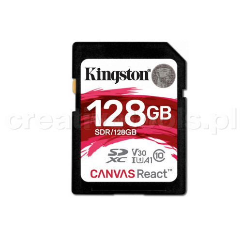 Kingston SDXC Canvas React 128GB (SDR128GB)