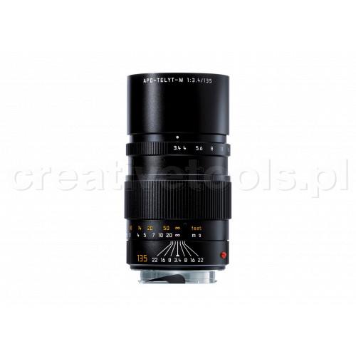 LEICA APO-TELYT-M 135 f/3.4, black anodized finish
