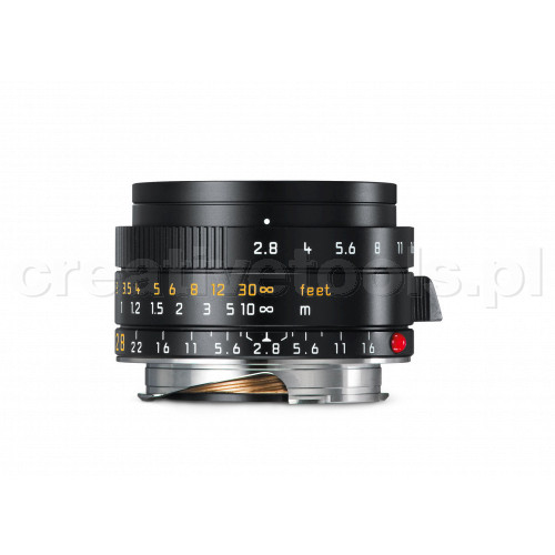 LEICA ELMARIT-M 28 f/2.8 ASPH., black anodized finish