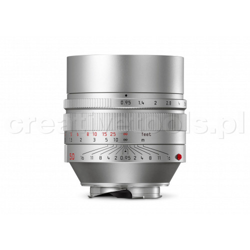 LEICA NOCTILUX-M 50 f/0.95 ASPH., silver anodized finish