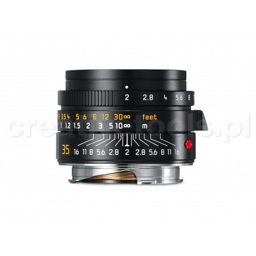 LEICA SUMMICRON-M 35 f/2 ASPH., black anodized finish