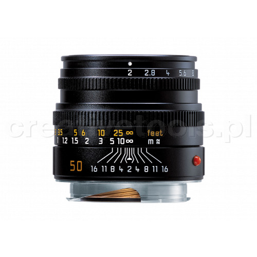 LEICA SUMMICRON-M 50 f/2, black anodized finish