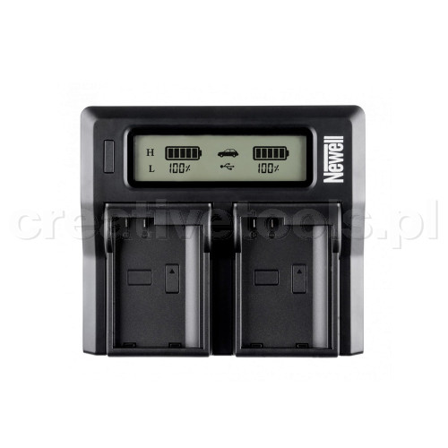 Newell Ładowarka dwukanałowa DC-LCD do akumulatorów LP-E6