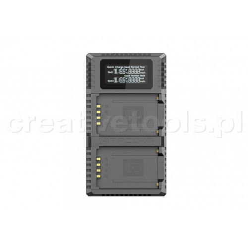Nitecore FX2 PRO ładowarka USB  do baterii Fujifilm (NP-W126/NP-W126S)