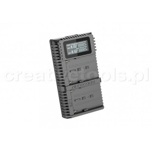 Nitecore USN3 PRO ładowarka USB  do Sony (NP-FM500, NP-F730, NP-F770, NP-F970,NP-F550)