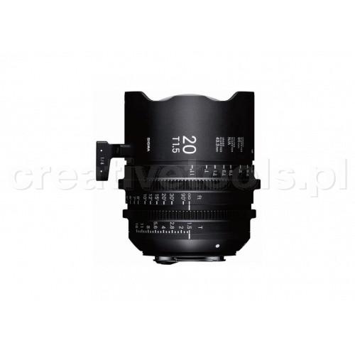 Sigma High Speed Prime Line 20mm T1,5 FF PL-Mount