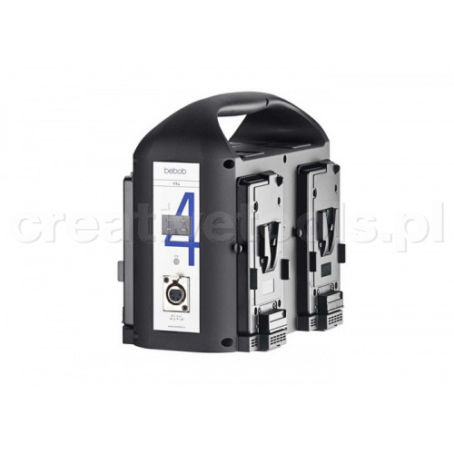 Bebob 4-Channel V-Mount Simult. Charger w. 75W DC-Out (VS4)