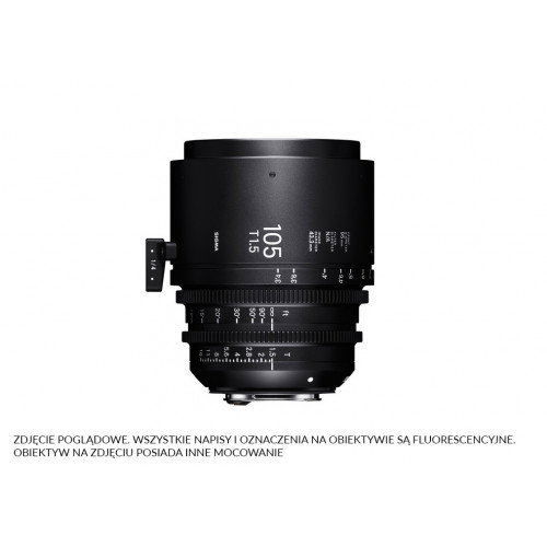 Sigma High Speed Prime Line 105mm T1.5 FF EF-Mount (Fully Luminous)