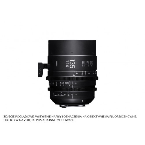 Sigma High Speed Prime Line 135mm T2 FF EF-Mount (Fully Luminous)