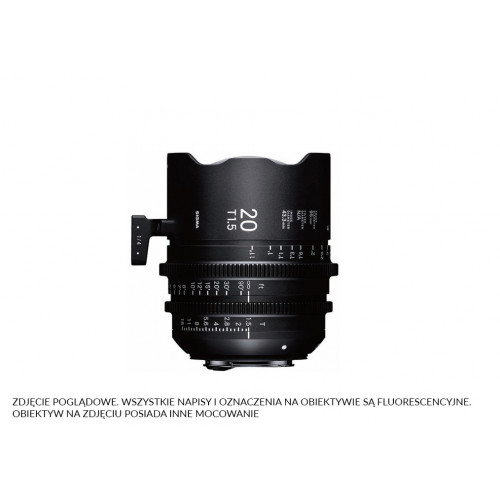 Sigma High Speed Prime Line 20mm T1.5 FF E-Mount (Fully Luminous)