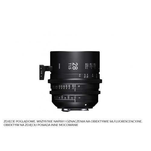 Sigma High Speed Prime Line 28mm T1.5 FF E-Mount (Fully Luminous)