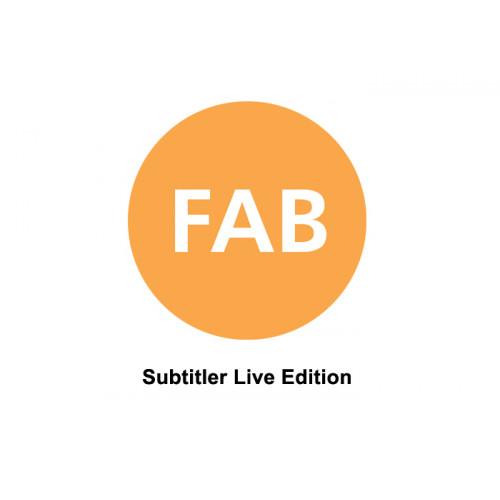 FAB FT-SUBTITLER LIVE