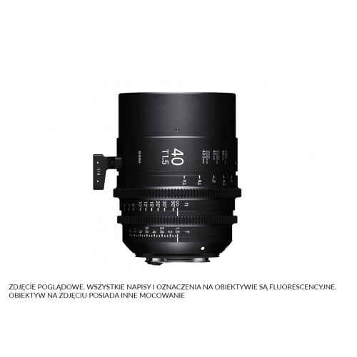 Sigma High Speed Prime Line 40mm T1.5 FF EF-Mount (Fully Luminous)
