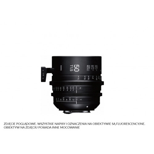 Sigma High Speed Prime Line 50mm T1.5 FF EF-Mount (Fully Luminous)