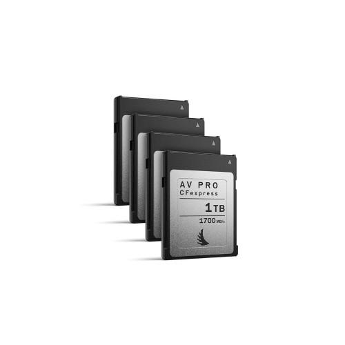 Angelbird AV PRO CFexpress 1TB, 4 pack