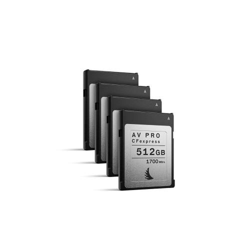 Angelbird AV PRO CFexpress 512GB, 4 pack