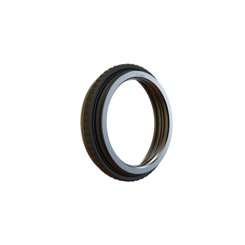 Bright Tangerine (B1250.1001) 143 -114mm Rubber Donut with metal Threaded Ring
