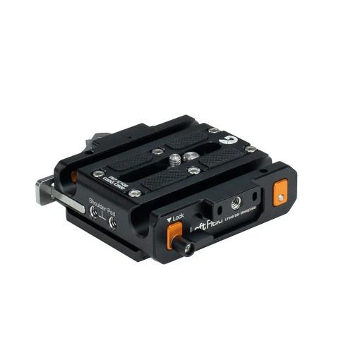 Bright Tangerine Sony FS7/FX9 Left Field QR Baseplate