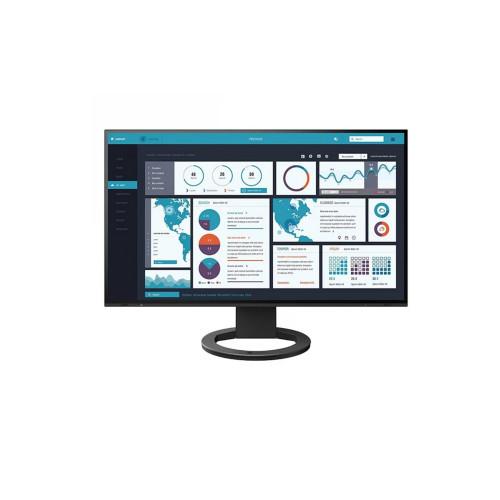 """EIZO EV2495-BK - monitor LCD 24"""" z daisy chain z USB-C i kartą sieciową (czarny)"""