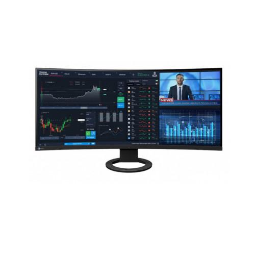 EIZO EV3895-BK  - ultraszeroki monitor z zakrzywionym ekranem, z USB-C i kartą sieciową (czarny)