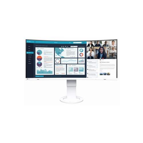 EIZO EV3895-WT - ultraszeroki monitor z zakrzywionym ekranem, z USB-C i kartą sieciową (biały)