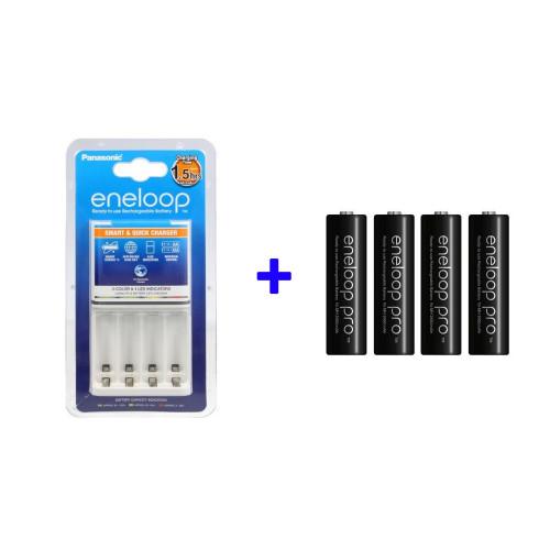Panasonic Eneloop ładowarka BQ-CC55E + 4 x akumulatory Eneloop PRO R6/AA 2500mAh