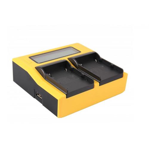 PATONA 7689 Dual LCD USB charger Canon BP-A30 EOS C200 C200B C200 PL C300 Mark II XF705 CA-CP200L