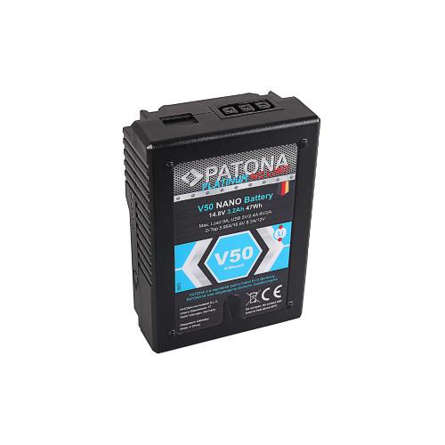PATONA 1298 Platinum NANO V-Mount Battery V50 with 47Wh RED ARRI