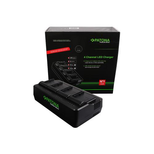 PATONA 1694 Premium Ładowarka 4- kanałowa LED Canon BP-A