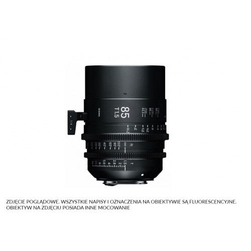 Sigma High Speed Prime Line 85mm T1.5 FF EF-Mount (Fully Luminous)