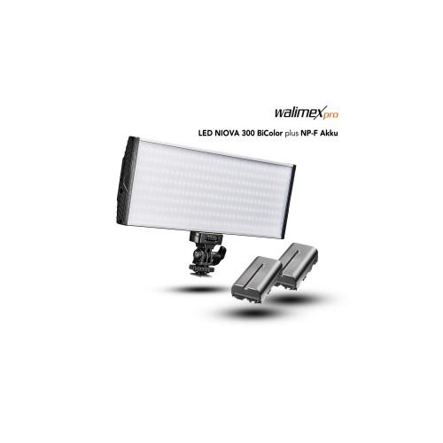 Walimex pro LED Niova 300 Bi Color + NP-F Akku
