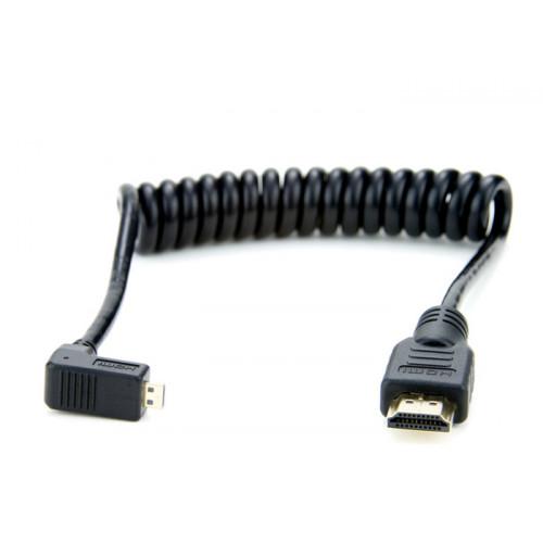Atomos Micro HDMI (kąt)/HDMI kabel spiralny 50-65